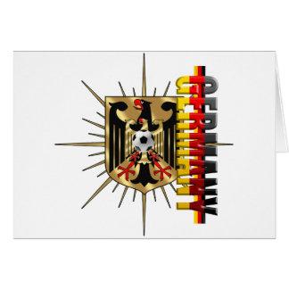 Germany Eagle love Fussball Deutschland 2010 Greeting Card