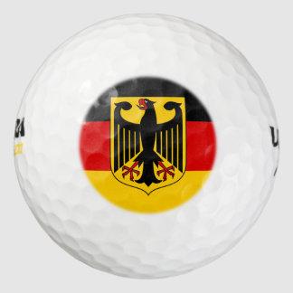 germany emblem pack of golf balls