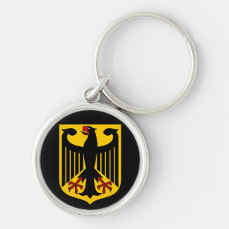 germany emblem Silver-Colored round keychain