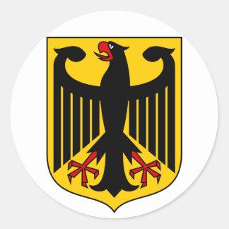 germany emblem round sticker