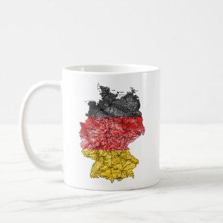 Germany eText ~ Flagcolor Map Mug