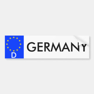 Germany European Union License Bumper Sticker Car Bumper Sticker
