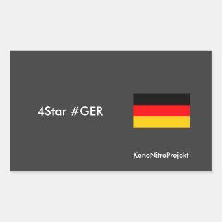 Germany Fan Wear and Stuff Rectangular Sticker