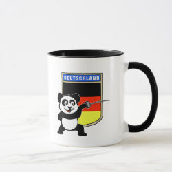 German Fencing Panda Combo Mug