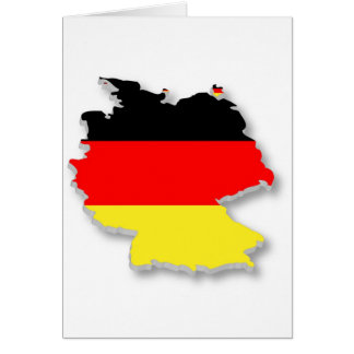 Germany Fla in the Shape of Germany Greeting Card