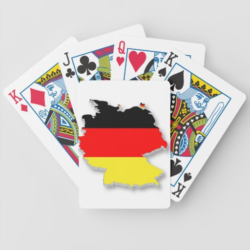 Germany Fla in the Shape of Germany Bicycle Playing Cards