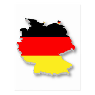 Germany Fla in the Shape of Germany Postcard
