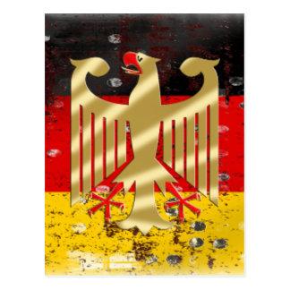 Germany Flag Adler Eagle Deutschland Fußball 2014 Postcard