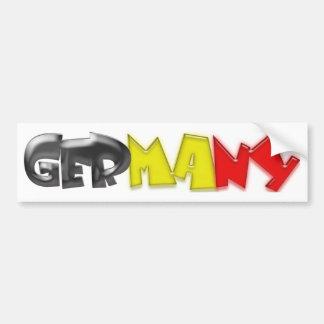Germany Flag Colors! Bumper Sticker
