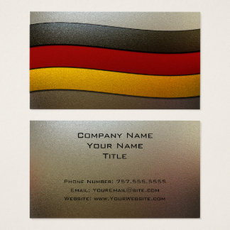 Germany Flag Colors-Chrome by Shirley Taylor Business Card
