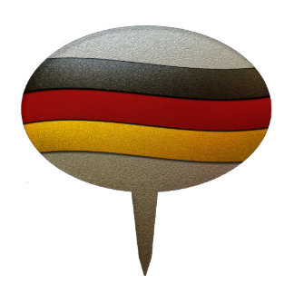 Germany Flag Colors-Chrome by Shirley Taylor Cake Topper