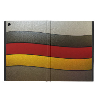 Germany Flag Colors-Chrome by Shirley Taylor Case For iPad Air