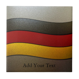 Germany Flag Colors-Chrome by Shirley Taylor Ceramic Tile