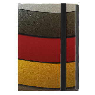 Germany Flag Colors-Chrome by Shirley Taylor iPad Mini Cover