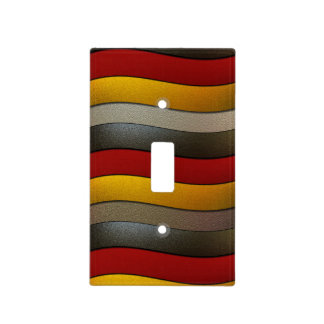 Germany Flag Colors-Chrome by Shirley Taylor Light Switch Cover