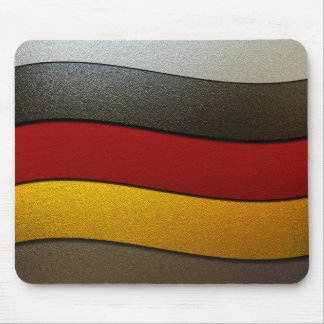 Germany Flag Colors-Chrome by Shirley Taylor Mouse Pad