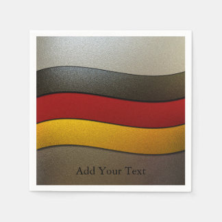 Germany Flag Colors-Chrome by Shirley Taylor Paper Napkin