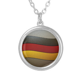 Germany Flag Colors-Chrome by Shirley Taylor Silver Plated Necklace