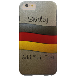 Germany Flag Colors-Chrome by Shirley Taylor Tough iPhone 6 Plus Case