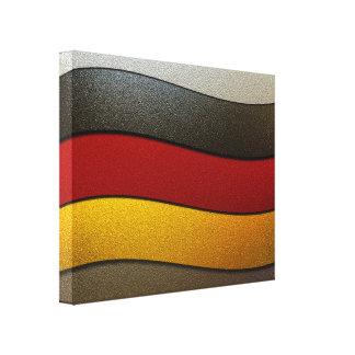 Germany Flag Colors-Chrome Canvas Print