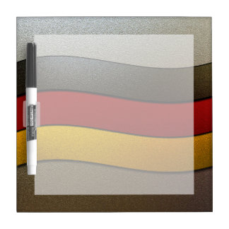 Germany Flag Colors-Chrome Dry-Erase Board