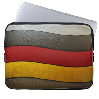 Germany Flag Colors-Chrome Laptop Sleeve