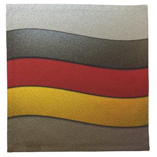 Germany Flag Colors-Chrome Napkin