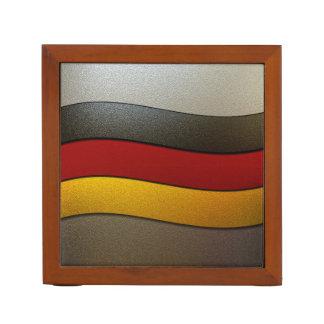 Germany Flag Colors-Chrome Pencil/Pen Holder