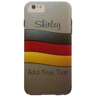Germany Flag Colors-Chrome Tough iPhone 6 Plus Case