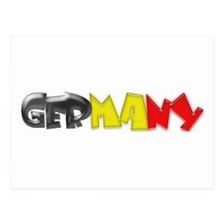 Germany Flag Colors! Postcard