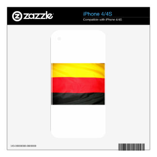 Germany Flag Decal For iPhone 4