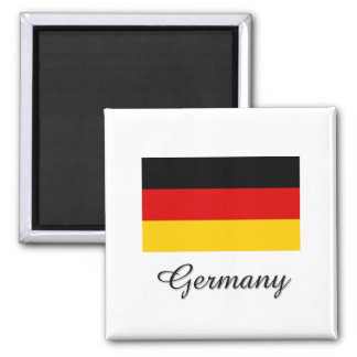 Germany Flag Design 2 Inch Square Magnet