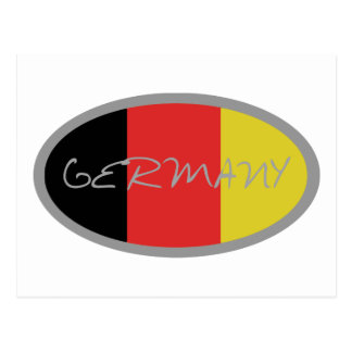 Germany flag design! postcard