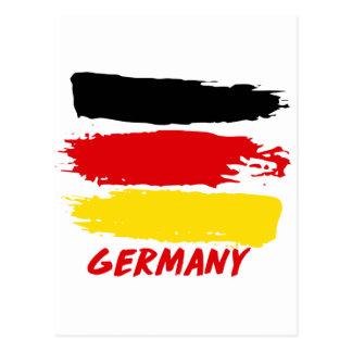 Germany flag designs postcard
