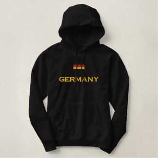 Germany Flag Embroidered Hoodie