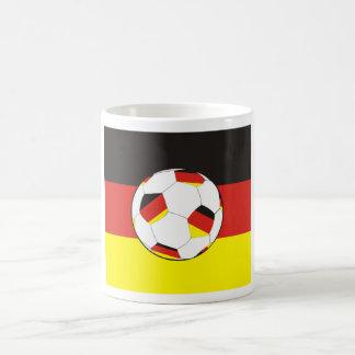 Germany flag football coffee mug