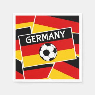 Germany Flag Football Paper Napkin