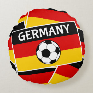 Germany Flag Football Round Pillow