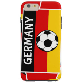 Germany Flag Football Tough iPhone 6 Plus Case