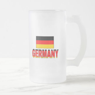 Germany flag frosted glass beer mug