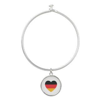Germany Flag Heart Bangle Charm Bracelet