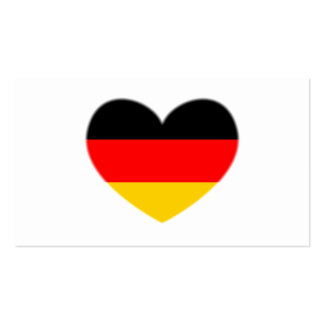 Germany Flag Heart Double-Sided Standard Business Cards (Pack Of 100)