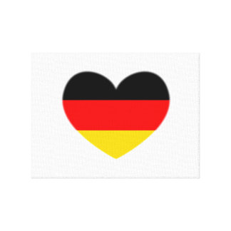 Germany Flag Heart Gallery Wrap Canvas