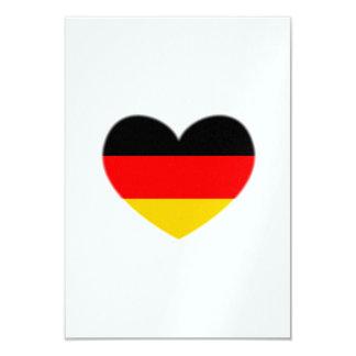 Germany Flag Heart Card