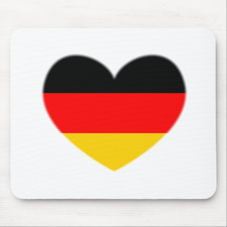 Germany Flag Heart Mouse Pad