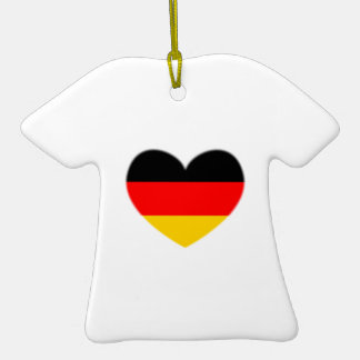 Germany Flag Heart Ornaments