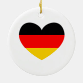 Germany Flag Heart Ornament
