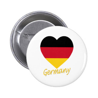 Germany Flag Heart Pinback Button