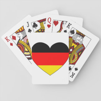Germany Flag Heart Playing Cards