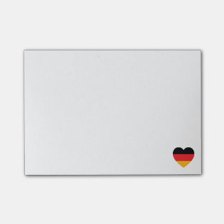 Germany Flag Heart Post-it Notes